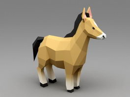 Horse 3d model free download - cadnav com