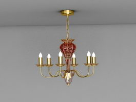 Traditional Candelabra Chandelier 3d model