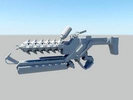 Sci-Fi Gun Concept Art 3d model