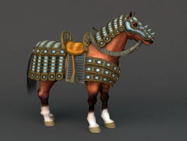 Armored Horse 3d model