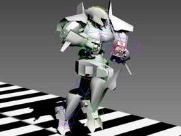 Robot Running Rig 3d model