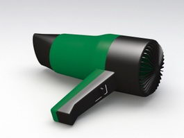 Green Hair Dryer 3d model
