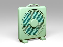Green Box Fan 3d model