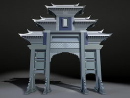 Chinese architecture 3d model free download - cadnav com