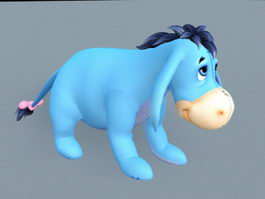 Eeyore Stuffed Toy 3d model