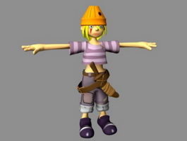Anime Warrior Boy 3d model
