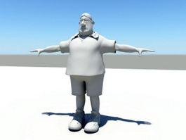 Fat Man 3d model