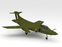 Blackburn Buccaneer 3d model