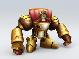 Anime Mecha Golem 3d model