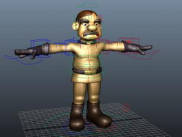 Cartoon Man Rig 3d model