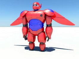 Red Mecha 3d model