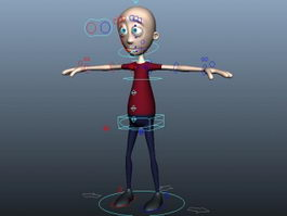 Cartoon Man Rigging 3d model