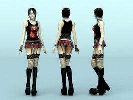 Scene Girl Character 3d model