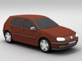VW Golf Car 3d model