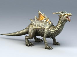 Stone Dragon 3d model