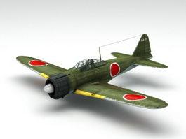 WW2 A6M Zero Fighter 3d model