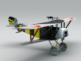 WWI Nieuport 17 Fighter 3d model