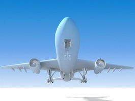 Passenger Airplane 3d model