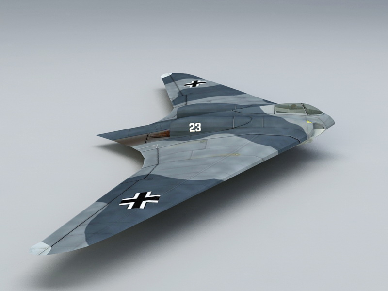 Ho 229 Fighter Bomber 3d Model Files Free Download