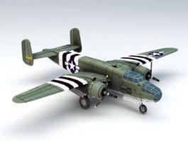 B-25 Mitchell Bomber 3d model