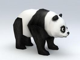 Low Poly Panda 3d model