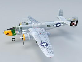 B25 Mitchell Bomber 3d model