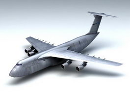 C-5 Galaxy Transport Aircraft 3d model
