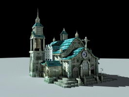 Medieval Catholic Church 3d model
