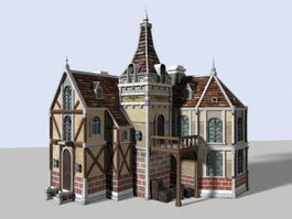 Medieval Town House 3d model