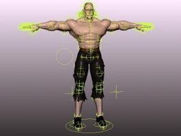 Barbarian Man Rig 3d model