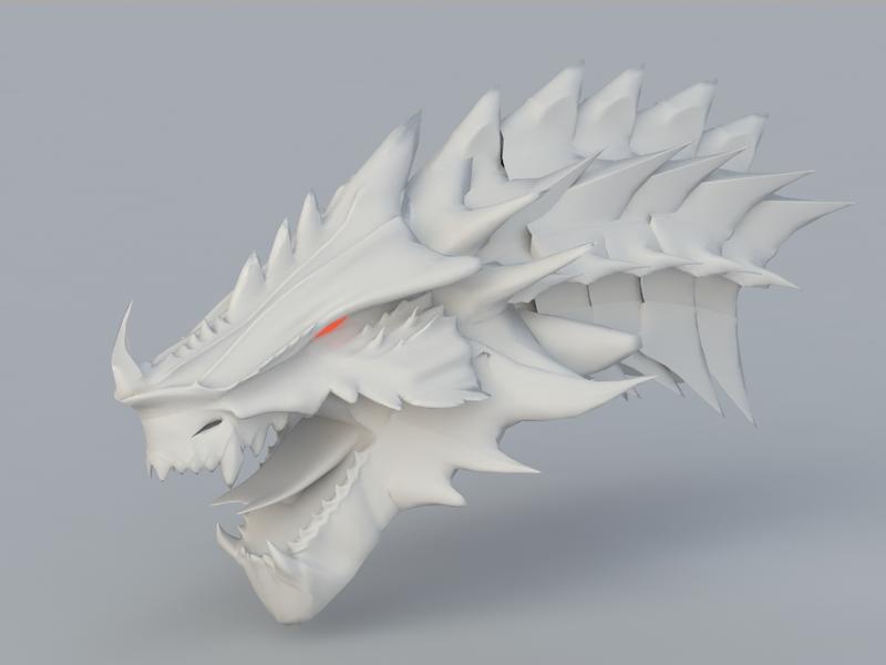 Dragon Head 3d Model 3ds Max Files Free Download