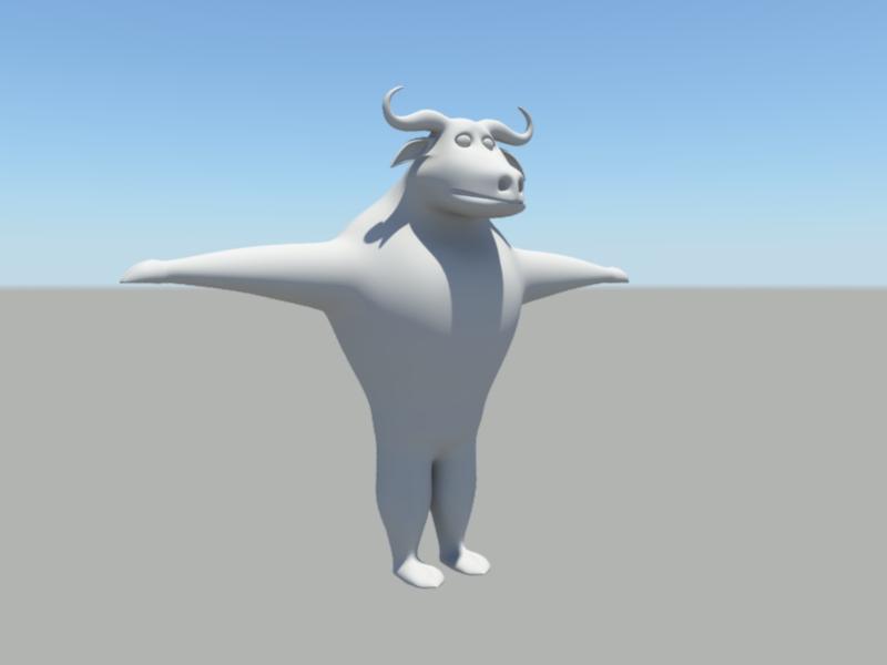 Cattle Cartoon 3d rendering