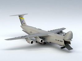 C-5M Galaxy Aircraft 3d model