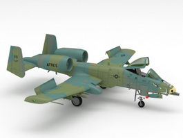 A-10 Thunderbolt Attack Aircraft 3d model