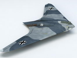 German Fighter Ho 229 3d model