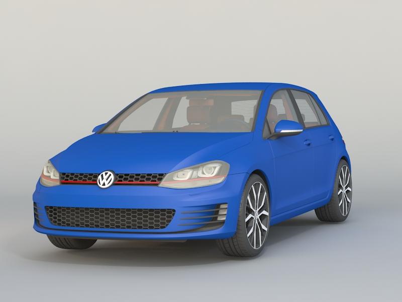 VW Golf GTI Mk7 3d model 3ds Max files free download - modeling 46245 on CadNav