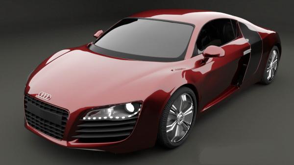 Audi R8 Sports Car 3D Model