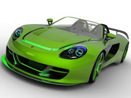 Porsche Carrera GT 3d preview