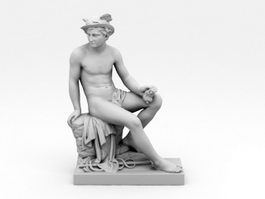 Sculpture of Mercury 3d model