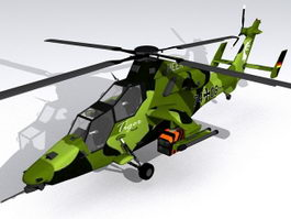 Eurocopter Tiger Helicopter 3d model