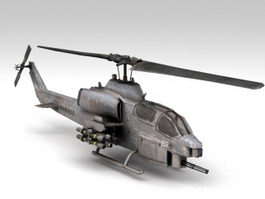 AH-1W SuperCobra Helicopter 3d model