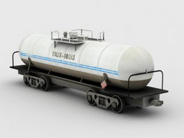 Train Tanker 3d model