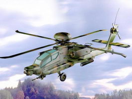 Apache Attack Helicopter 3d model