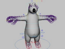 Backkom Bear Rig 3d model