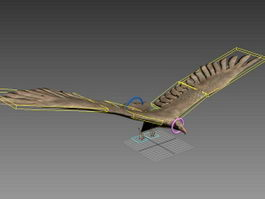 Falcon Bird Rig 3d model