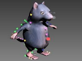 Fat Rat Cartoon Rig 3d model