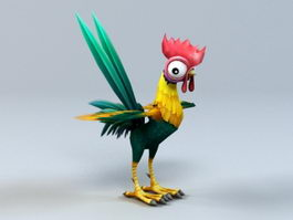 Cartoon Rooster 3d model