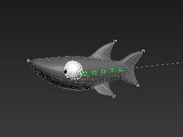 Rigging Cartoon Shark 3d model