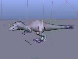 Momma Dinosaur Rig 3d model