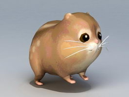 Cartoon Gopher 3d model